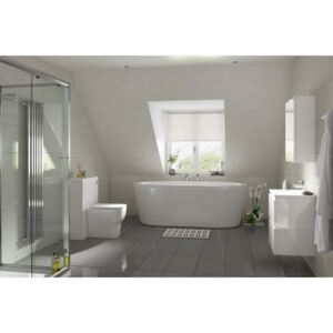 Breeze Grey Polished Porcelain Wall and Floor Tiles - 28.6 x 58cm - 6 Pack
