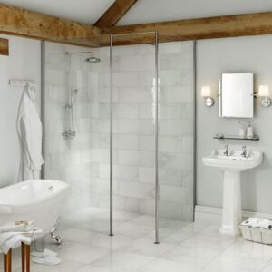 Vicenza White Wall Tile - 600 x 200mm