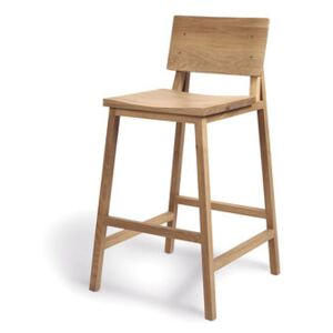 N3 Bar stool - / H 66 cm - Solid oak by Ethnicraft Natural wood