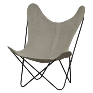 AA Butterfly Low armchair - Linen / Black structure by AA-New Design White