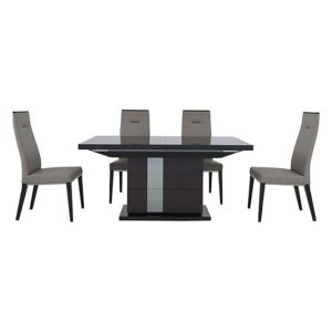 ALF - Avellino Extending Dining Table and 4 Dining Chairs - 210-cm