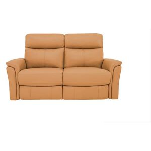 Compact Collection Piccolo 2 Seater Recliner Sofa - Yellow- World of Leather
