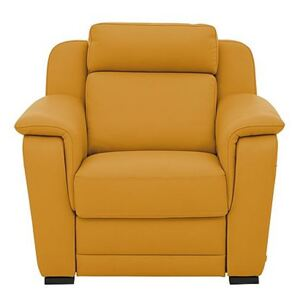Nicoletti - Matera Leather Power Recliner Armchair with Pad Arm - Yellow
