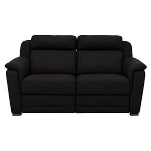 Nicoletti - Matera 2.5 Seater Leather Power Recliner Sofa with Pad Arms - Black
