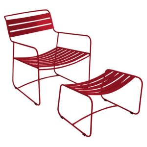 Surprising Lounger Set armchair & footrest - With footrest by Fermob Red