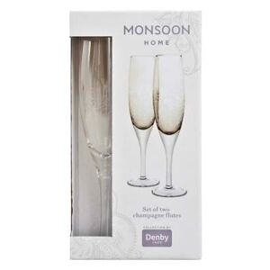 Monsoon Lucille Gold Champagne Flute (Pack Of 2)