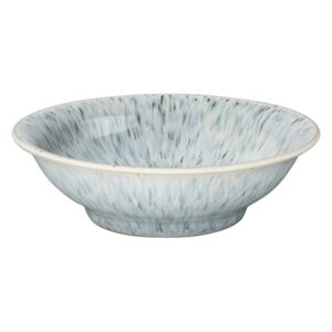 Halo Speckle Small Shallow Bowl
