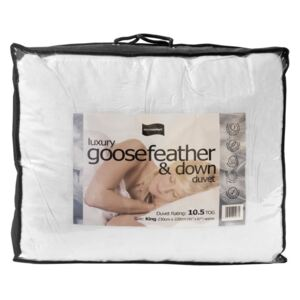 Luxury 10.5 Tog Hungarian Goosefeather and Down Duvet, Single