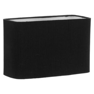 Dar S1077 Black Rectangle Shade For Use With Wall Brackets