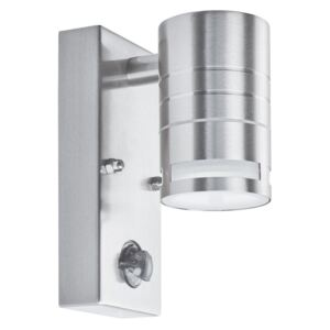 Searchlight 1318-1-LED One Light LED Outdoor Wall Light With Motion Sensor In Stainless Steel