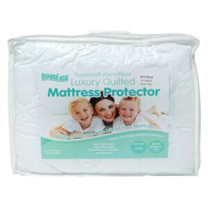 Dreameasy Luxury Quilted Microfibre Mattress Protector, Single