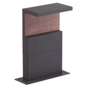 Mantra M6771 Ruka Outdoor 13 Watt LED Post Light In Anthracite And Walnut