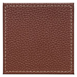 Denby Brown Faux Leather Coasters Set Of 4