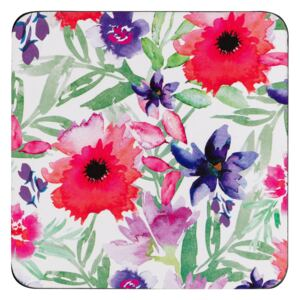 Denby Watercolour Floral Coasters Pack of 6