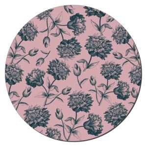 Denby Rose Engraved Floral Round Set Of 6 Placemats