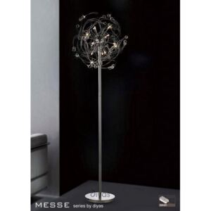 IL30175 Messe 12 Chrome And Crystal Floor Lamp