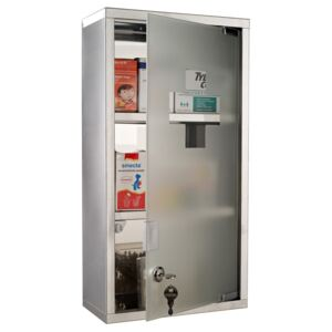 HOMCOM Stainless Steel Wall Mounted Medicine Cabinet-Silver