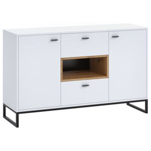 FURNITOP Chest of Drawers OLIER OE2 white / oak artisan