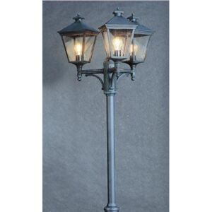 Norlys Turin Grande TG7 Black Lamp Post with Clear Lens IP44