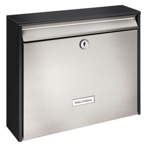 BURG-WÄCHTER Letterbox Oxford 6877 B+S Stainless Steel Silver