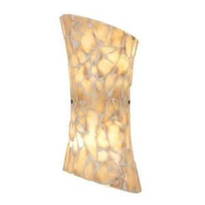 Endon MARCONI-2WBNA Mosaic Wall Bracket In Natural Stone