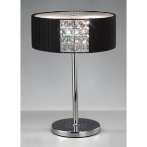 Diyas IL31170/BL Evelyn Black And Crystal Table Lamp