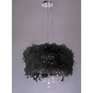 Diyas IL30742/BL Ibis Ceiling Pendant Light with Black Shade