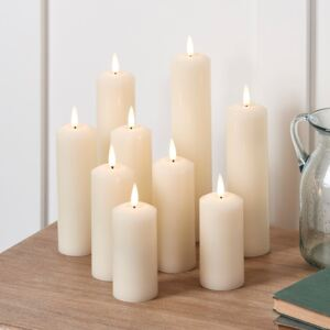 9 TruGlow® LED Slim Pillar Candles With Remote Control