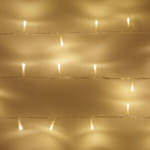 50 Warm White LED Indoor Fairy Lights On Clear Cable