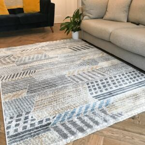 Soft Yellow Tribal Abstract Rug | Mystic