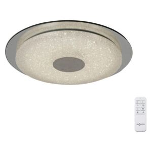 Mantra M5929 Virgin LED Tuneable Flush Ceiling Light In Chrome, Crystal And Silver