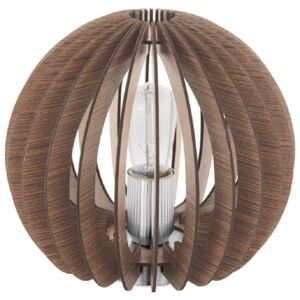 Eglo 94956 Cossano One Light Table Lamp In Brown Wood