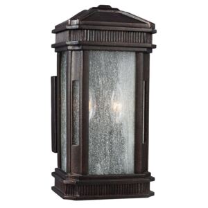 FE/FEDERAL/S Federal 2 Light Small Outdoor Wall Lantern Light In Gilded Bronze