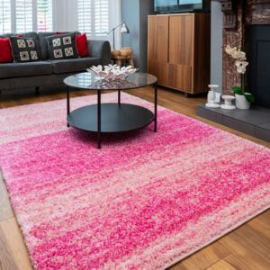 Striped Mottled Thick Shaggy Living Room Rugs | Choose Your Colour