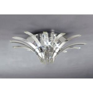 Diyas IL50441 Sinclair Low Ceiling Light in Polished Chrome Finish