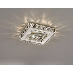 Diyas IL30837CH Galaxy Square Recessed Downlight In Polished Chrome