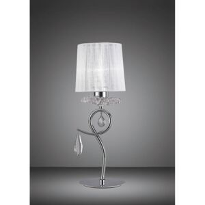 Mantra M5279 Louise 1 Light Table Lamp In Chrome With White Shade