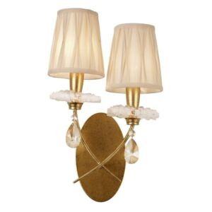 Mantra M6294 Sophie GP 2 Light Wall Light In Painted Gold With Shades