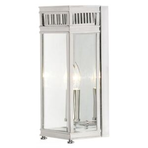 Elstead HL7/S PC Holborn Small 1 Light Outdoor Wall Lantern In Polished Chrome