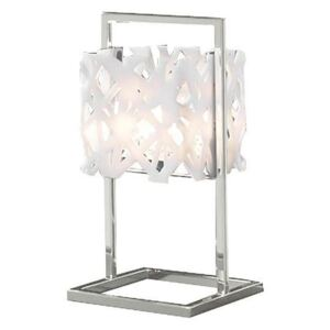 Mantra M1251 Tokio 1 Light Table Lamp In White And Chrome
