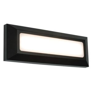 Saxby 61211 Severus Rectangle Guide Outdoor Wall Light in Black