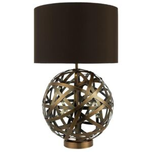 Dar VOY4264 Voyage Table Lamp With Brown Faux Silk Shade