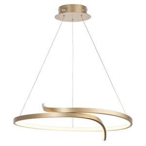 Endon 90323 Rafe Ceiling Pendant In Brushed Gold Effect And White Silicone