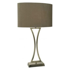 OPO4175 Oporto Table Lamp With Antique Brass Finish And Brown Oval Shade