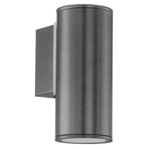 Eglo 94102 Riga 1 Light Outdoor Wall Light In Anthracite - Height: 150mm