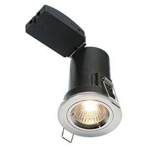 Saxby 50674 ShieldPLUS MV Fixed Recessed Downlight in Chrome Finish