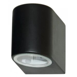 Searchlight 8008-1BK-LED Outdoor 1 Light Wall Light With Fixed Glass Lens In Black