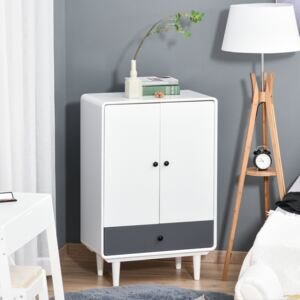 HOMCOM Modern Cabinet Storage Organizer with Doors and Drawer for Bedroom & Living Room