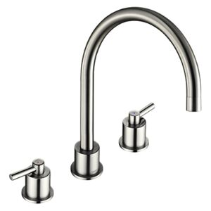 The 1810 Company AER/02/BS 3 Hole Basin Tap - Brushed Steel