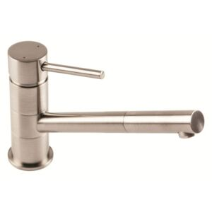 The 1810 Company PLU/02/BS Monobloc Tap - Brushed Steel